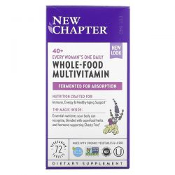 New Chapter, 40+ Every Woman's One Daily, Whole-Food Multivitamin, 72 Vegetarian Tablets Dla Dzieci