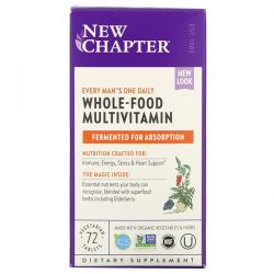 New Chapter, Every Man's One Daily Whole-Food Multivitamin, 72 Vegetarian Tablets Dla Dzieci