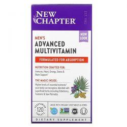 New Chapter, Men's Advanced Multivitamin, 120 Vegetarian Tablets Dla Dzieci