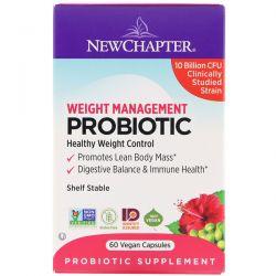 New Chapter, Weight Management Probiotic, 10 Billion CFU, 60 Vegan Capsules Dla Dzieci