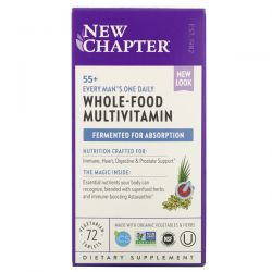 New Chapter, 55+ Every Man's One Daily Whole-Food Multivitamin, 72 Vegetarian Tablets Dla Dzieci