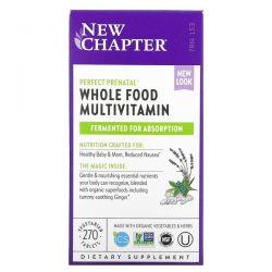 New Chapter, Perfect Prenatal, Whole Food Multivitamin, 270 Vegetarian Tablets Dla Dzieci