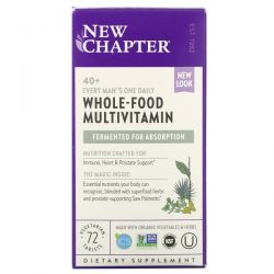 New Chapter, 40+ Every Man's One Daily Whole-Food Multivitamin, 72 Vegetarian Tablets Dla Dzieci