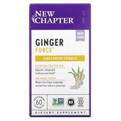 New Chapter, Ginger Force, 60 Vegetarian Capsules Dla Dzieci