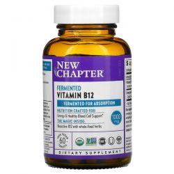 New Chapter, Fermented Vitamin B12, 1,000 mcg, 60 Vegan Tablets Dla Dzieci