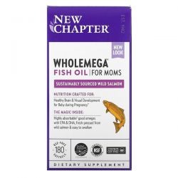 New Chapter, Wholemega Fish Oil for Moms, 180 Softgels Dla Dzieci