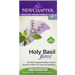 New Chapter, Holy Basil Force, 120 Vegetarian Capsules Dla Dzieci