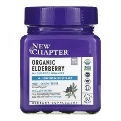 New Chapter, Organic Elderberry Whole-Food Gummies, 60 Vegan Gummies Dla Dzieci