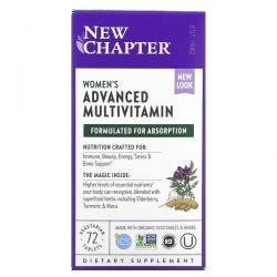 New Chapter, Women's Advanced Multivitamin, 72 Vegetarian Tablets Dla Dzieci