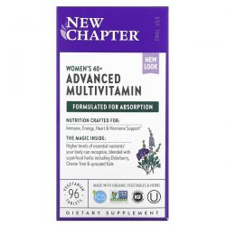New Chapter, Women's 40+ Advanced Multivitamin, 96 Vegetarian Tablets Dla Dzieci