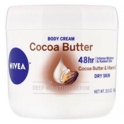 Nivea, Body Cream, Cocoa Butter, 15.5 oz (439 g) Dla Dzieci