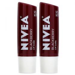 Nivea, Tinted Lip Care, Blackberry, 2 Pack, 0.17 oz (4.8 g) Each Dla Dzieci