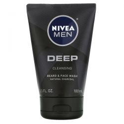 Nivea, Men, Deep Cleansing Beard & Face Wash, 3.3 fl oz (100 ml) Dla Dzieci