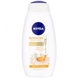 Nivea, Refreshing Body Wash, White Peach & Jasmine, 20 fl oz (591 ml)