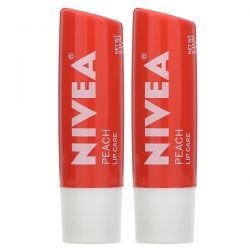 Nivea, Tinted Lip Care, Peach, 2 Pack, 0.17 oz (4.8 g) Each