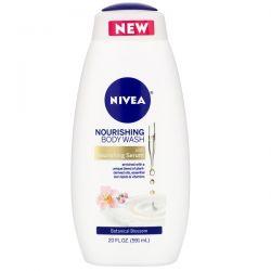 Nivea, Nourishing Body Wash, Botanical Blossom, 20 fl oz (591 ml) Dla Dzieci