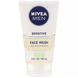 Nivea, Men, Sensitive Face Wash, 5 fl oz (150 ml) Dla Dzieci