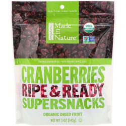 Made in Nature, Organic Dried Cranberries, Ripe & Ready Supersnacks, 5 oz (142 g) Pozostałe