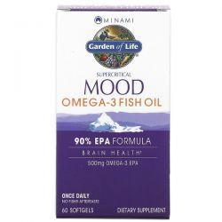 Minami Nutrition, Supercritical Mood Omega-3 Fish Oil, 500 mg, 60 Softgels Pozostałe