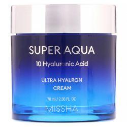Missha, Super Aqua, Ultra Hyalron Cream, 2.36 fl oz (70 ml) Pozostałe