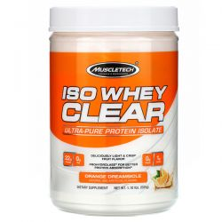 Muscletech, ISO Whey Clear, Ultra-Pure Protein Isolate, Orange Dreamsicle, 1.10 lbs (505 g) Pozostałe