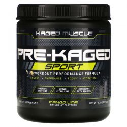 Kaged Muscle, PRE-KAGED Sport, Pre-Workout Performance Formula, Mango Lime, 9.38 oz (266 g) Pozostałe