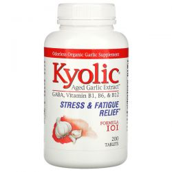 Kyolic, Aged Garlic Extract, Stress & Fatigue Relief, Formula 101, 200 Tablets Pozostałe