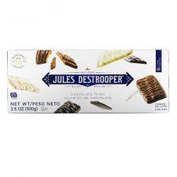 Jules Destrooper, Chocolate Thins Cookies, 3.5 oz (100 g) Pozostałe
