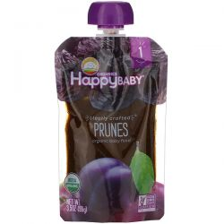 Happy Family Organics, Organic Baby Food, Stage 1, Clearly Crafted, Prunes, 4 + Months, 3.5 oz (99 g) Pozostałe