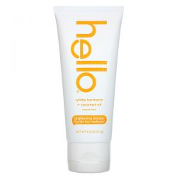 Hello,  Brightening Booster Fluoride Free Toothpaste, White Turmeric + Coconut Oil, Natural Mint, 4.0 oz (113 g) Pozostałe