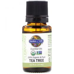 Garden of Life, 100% Organic & Pure, Essential Oils, Cleansing, Tea Tree, 0.5 fl oz (15 ml) Pozostałe