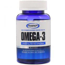 Gaspari Nutrition, Omega-3, 2,400 mg, 60 Softgels Pozostałe