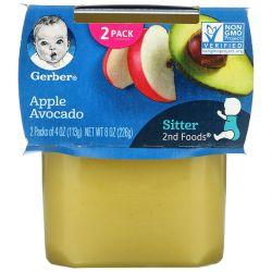 Gerber, Apple Avocado, 2nd Foods, 2 Pack, 4 oz (113 g) Each Pozostałe
