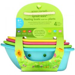 Green Sprouts, Sprout Ware Floating Boats,  6+ Months, Multicolor, 4 Count Pozostałe