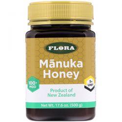 Flora, Manuka Honey, MGO 100+, 17.6 oz (500 g) Animowane