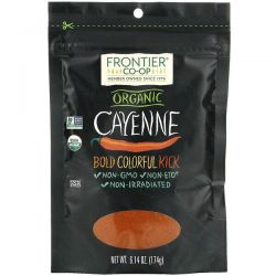 Frontier Natural Products, Organic Cayenne, 6.14 oz (174 g) Pozostałe