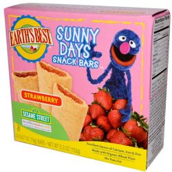 Earth's Best, Organic Sunny Days Snack Bars, Strawberry, 8 Bars, 0.67 oz (19 g) Each Pozostałe