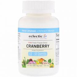 Eclectic Institute, Raw Fresh Freeze-Dried, Cranberry, 300 mg, 120 Non-GMO Veg Caps Pozostałe