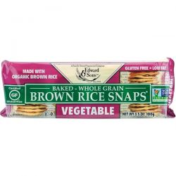 Edward & Sons, Baked Whole Grain Brown Rice Snaps, Vegetable, 3.5 oz (100 g) Pozostałe