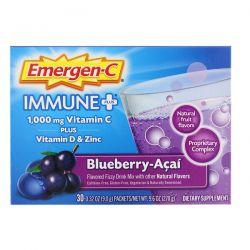 Emergen-C, Immune +,  Vitamin C Plus Vitamin D & Zinc, Blueberry-Acai, 1,000 mg, 30 Packets, 0.32 oz (9.0 g) Each Pozostałe
