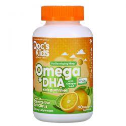 Doctor's Best, Omega + DHA Kids Gummies, Citrus, 90 Gelatin-Free Gummies Pozostałe