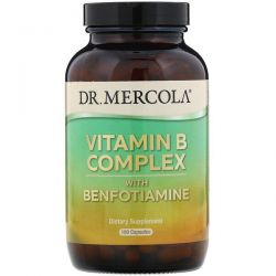 Dr. Mercola, Vitamin B Complex with Benfotiamine, 180 Capsules Pozostałe