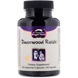 Dragon Herbs, Duanwood Reishi, 500 mg, 100 Vegetarian Capsules Animowane
