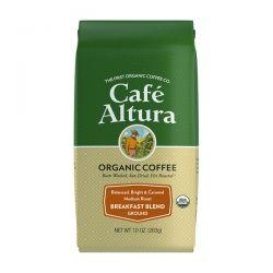 Cafe Altura, Organic Coffee, Breakfast Blend, Medium Roast, Ground, 10 oz (283 g) Pozostałe