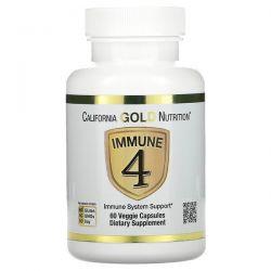 California Gold Nutrition, Immune 4, Immune System Support, 60 Veggie Capsules Pozostałe