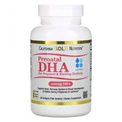 California Gold Nutrition, Prenatal DHA for Pregnant & Nursing Mothers, 450 mg , 60 Softgels Animowane
