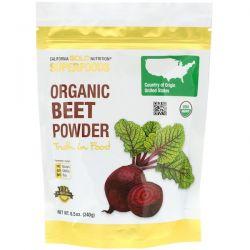 California Gold Nutrition, Superfoods, Organic Beet Powder, 8.5 oz (240 g) Pozostałe