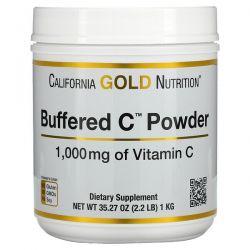 California Gold Nutrition, Buffered Gold C, Non-Acidic Vitamin C Powder, Sodium Ascorbate, 1,000 mg, 2.2 lb (1 kg) Pozostałe