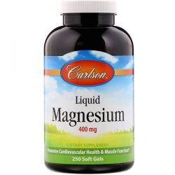 Carlson Labs, Liquid Magnesium, 400 mg, 250 Soft Gels Pozostałe