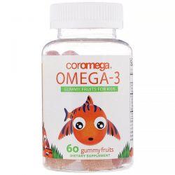 Coromega, Omega-3, Gummy Fruits for Kids, 60 Gummy Fruits Pozostałe